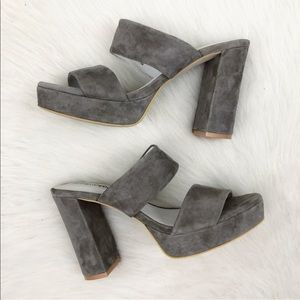 3f40f93a962d Jeffrey Campbell Shoes - Jeffrey Campbell Adriana Grey Suede Heel Sandal